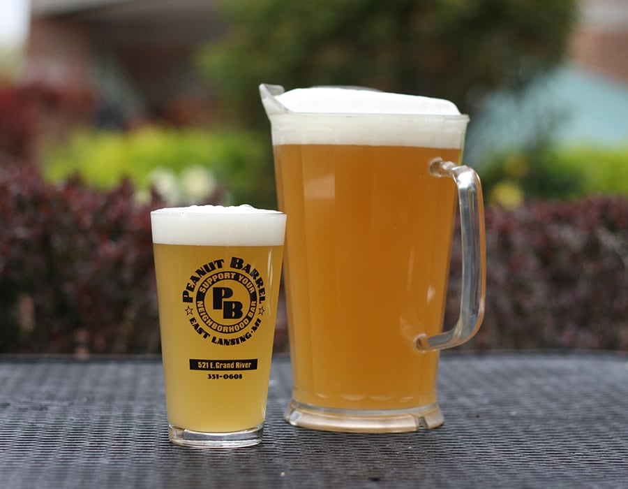 Pint and pitcher of beer